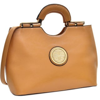 Dasein Faux Leather Loop Handle Shoulder Bag