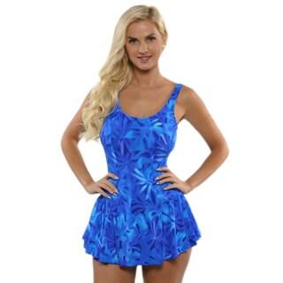 Maxine of Hollywood Women's Blue Princess Swim Dress