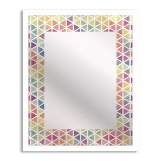 Watercolor Triangles Mirror Art