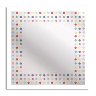 Watercolor Polka Dots Mirror Art