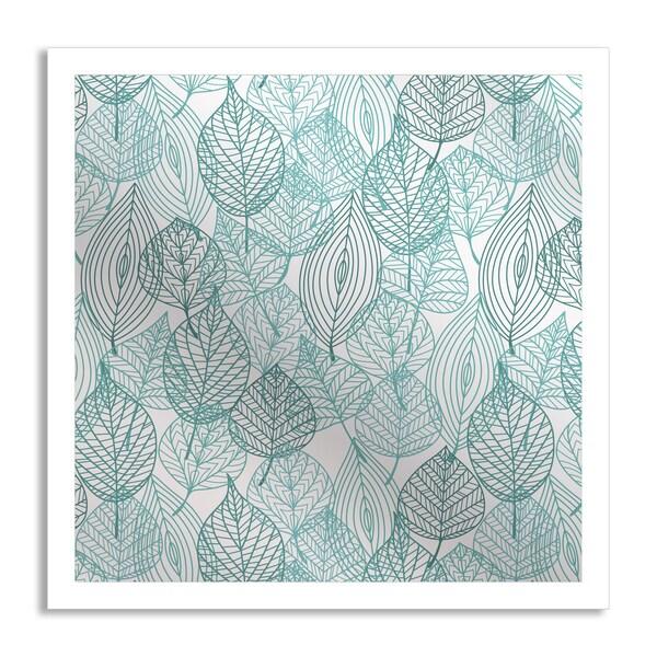 Seamartini Graphics 'Blue Leaves' Mirror Art