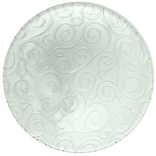 French Home Clear Swirl 9-inch Dinner Plates (Set of 6)