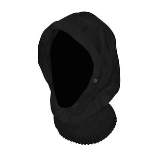 QuietWear Black Hood with Knit Neckup