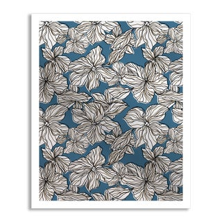 Gallery Direct Blue Flourish I Mirror Art