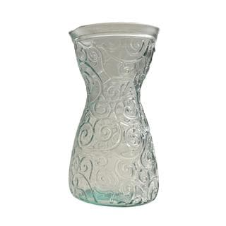 French Home Ice Clear Swirls Recycled Glass Decanter
