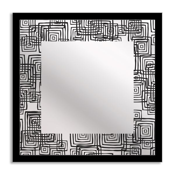 Gallery Direct Modern Squares Mirror Art 14447816
