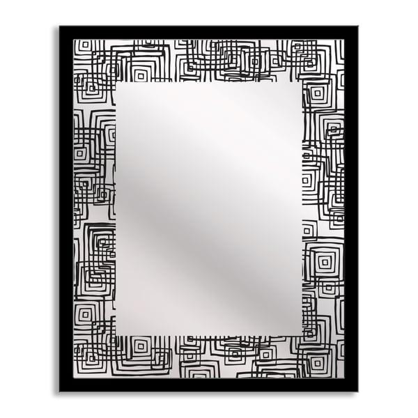 Modern Squares Mirror Art