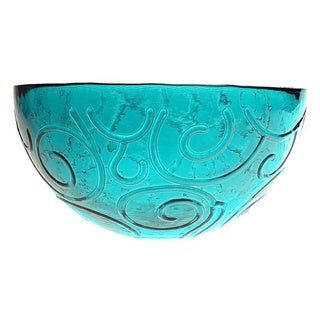 French Home 7-inch Capri Teal Glass Soup/ Cereal Bowl (Set of 6)