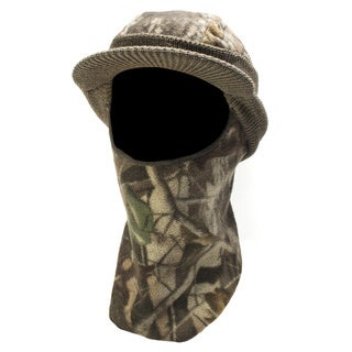 QuietWear Knit Fleece Visor with Drop Down Mask