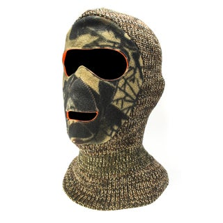 QuietWear Reversible Brown Camo Facemask
