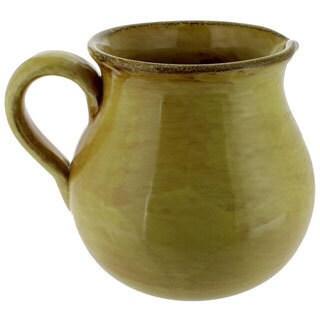 French Home Saffron Italian Stoneware Traditional Pitcher