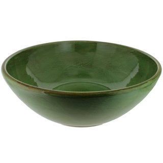 French Home Cilantro Green Italian Stoneware Deep Serving Bowl