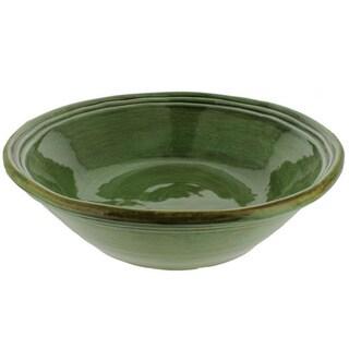 French Home Cilantro Green Italian Stoneware Classic Serving Bowl