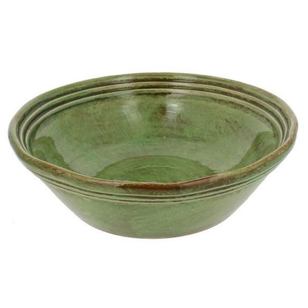 French Home Cilantro Italian Stoneware 9 Inch Soup Bowls