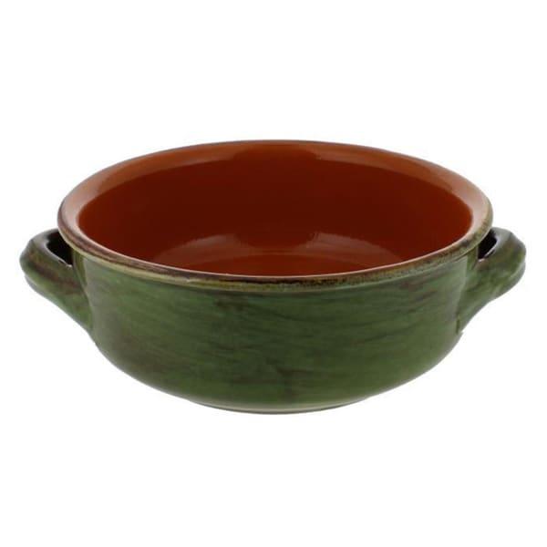 French Home Cilantro Italian Stoneware 6 Inch Soup Bowls