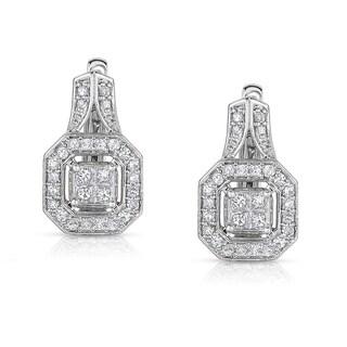Eloquence 14k White Gold 1/2ct TDW White Diamond Earrings (H-I, I1-I2)