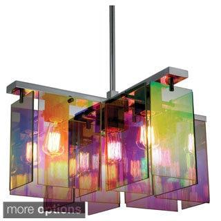 Sonneman Dichroic 5-light Square Pendant Chandelier