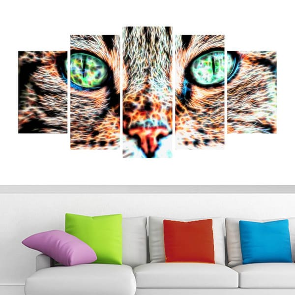 Design Art 'Windows to the Soul' Cat Eyes Canvas Art