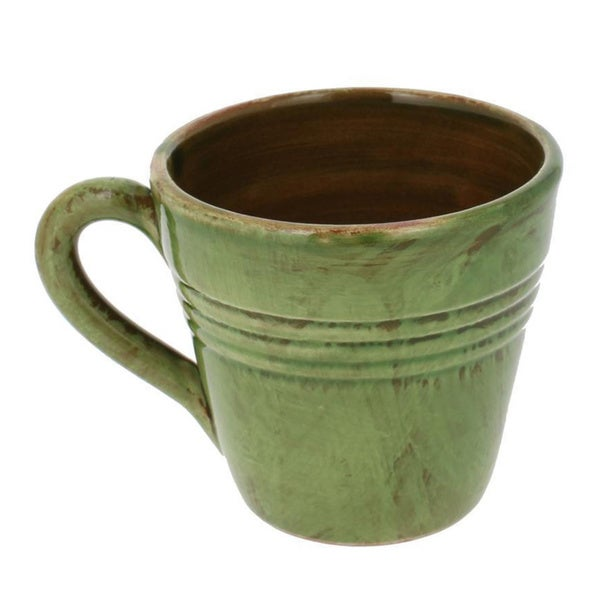 French Home Cilantro Green Italian Stoneware Coffee Mugs (Set of 4)