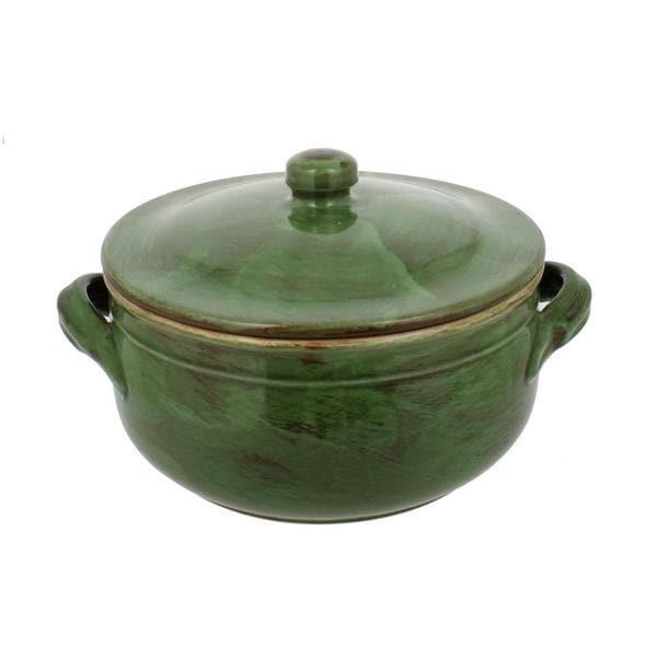 French Home Cilantro Italian Stoneware Two Handle Lidded