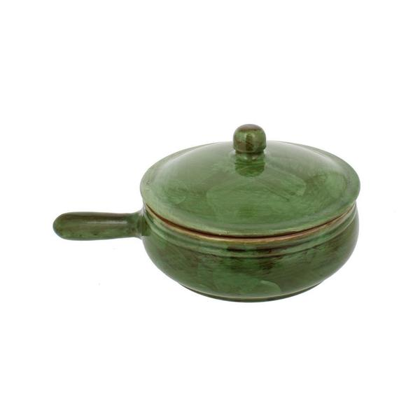 French Home Cilantro Italian Stoneware Sauce Pan with Lid