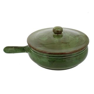 French Home Cilantro Italian Stoneware Frying Pan with Lid