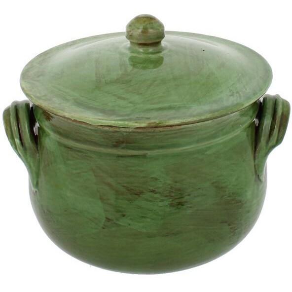French Home Cilantro Italian Stoneware Round Traditional