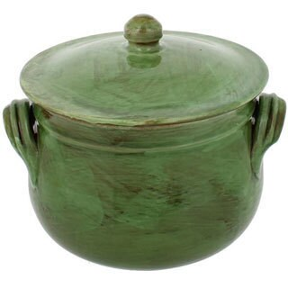 French Home Cilantro Italian Stoneware Round Traditional Stock Pot