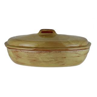 French Home Saffron Italian Stoneware Oven/ Stovetop Roaster