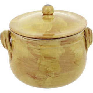 French Home Saffron Gold Italian Stoneware Stock Pot