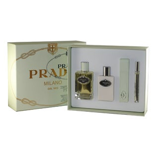 Prada Infusion D'Iris Women's 4-piece Fragrance Set with Leather Case