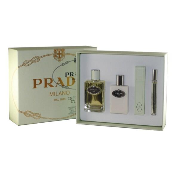Prada Infusion D'Iris Women's 4-piece Fragrance Set with Leather Case