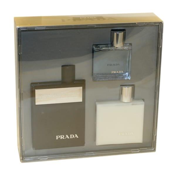 Prada Amber Intense Men's 3-piece Fragrance Set