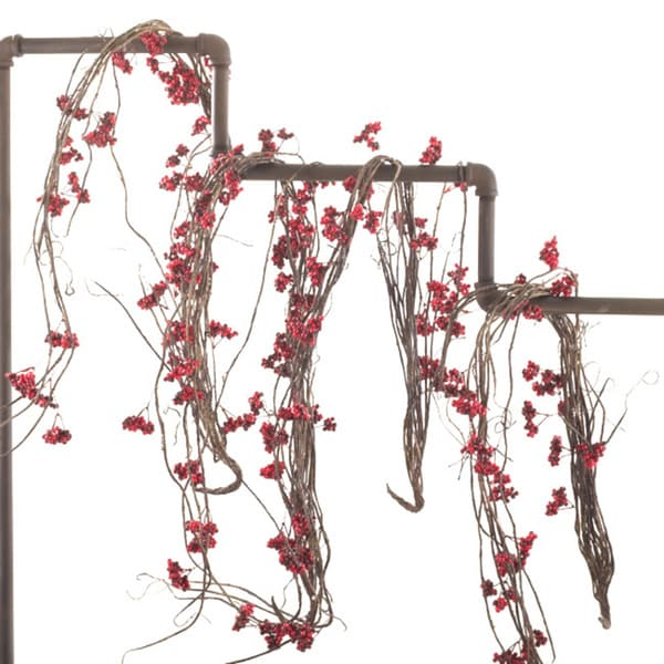 Exotic Red Berry Vine (Set of 4)