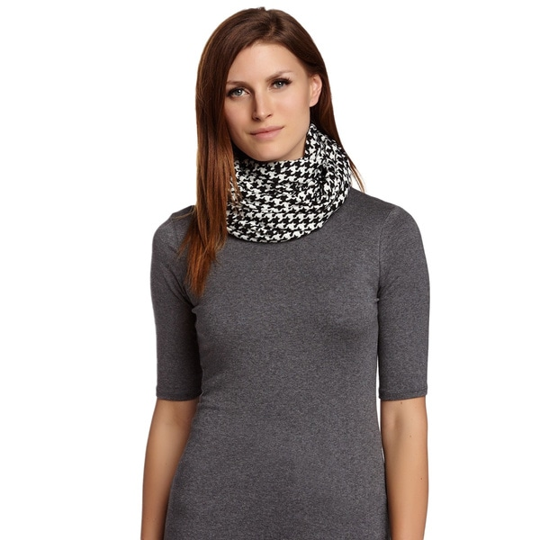 KC Signatures Classic Houndstooth Infinity Scarf