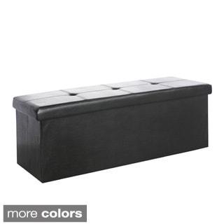 Alicia Script Fabric Storage Bench