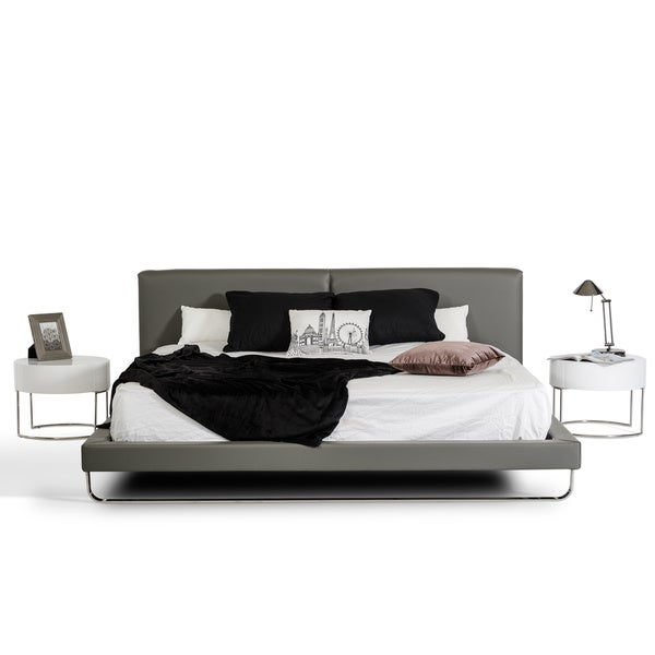 Modrest Ramona Grey Leatherette Bed