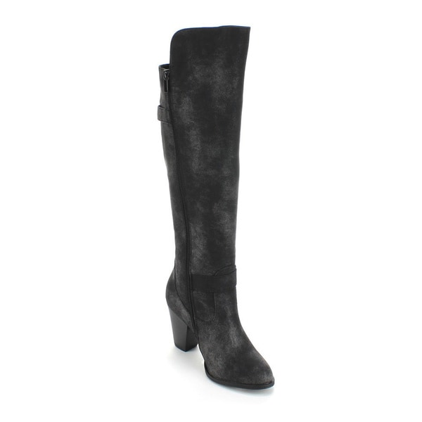 Forever Women's 'Camila-44' Knee-high Low-heel Black Riding Boots Size 6.5 (As Is Item)