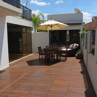 Flexdeck Brazilian Walnut Interlocking Tiles