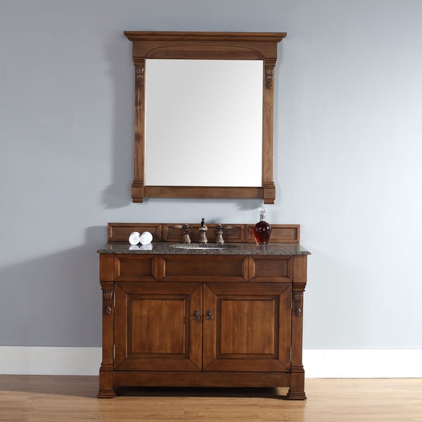 48 inch brookfield country oak single cabinet vanity 16848568