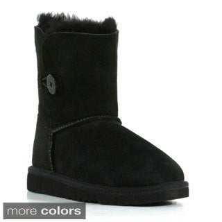 Uggs Girls 'Bailey' Genuine Suede Button Boots