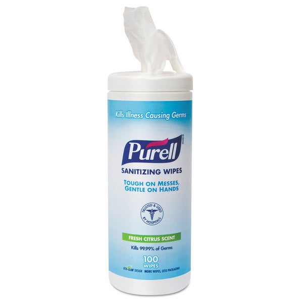Purell Premoistened 5.78x7-inch Cloth Sanitizing Wipes (Pack of 12)