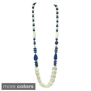 Tiara Global Handmade Unique Long Bead Necklace