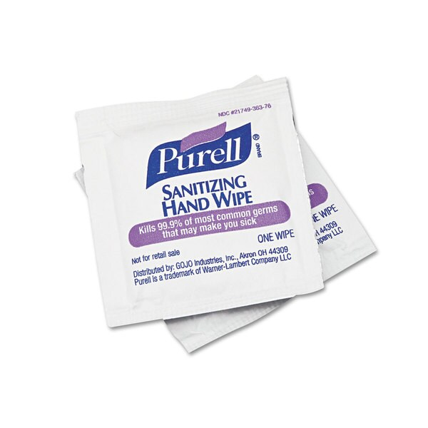 Purell 5x7-inch Sanitizing Hand Wipes (Box of 100)