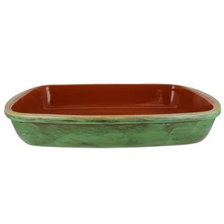 French Home Cilantro Green Stoneware Classic Rectangular 17 x 10 Baker