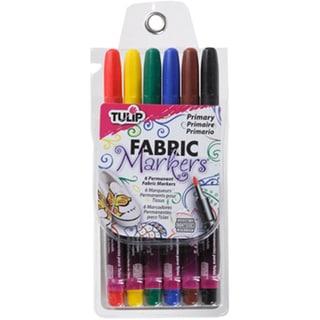 Tulip Writer Fabric Markers 6/Pkg-Primary