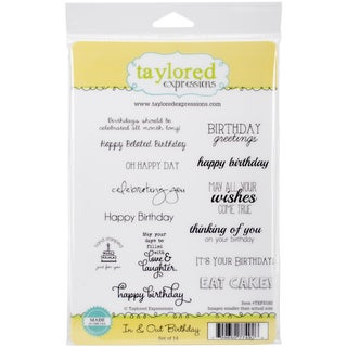 """Taylored Expressions Cling Stamps 5.5""""X8.5""""-In & Out Birthday"""