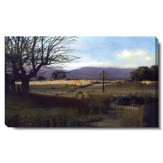 Studio Works Modern 'Country Evening' Fine Art Gallery Wrapped Canvas