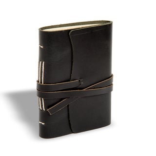 Sitara Handmade Black Leather Journal (India)