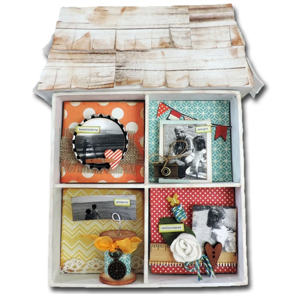 "Maya Road Undiscovered Treasures Chipboard Shadowbox Kit-7.5""X10""X1"""